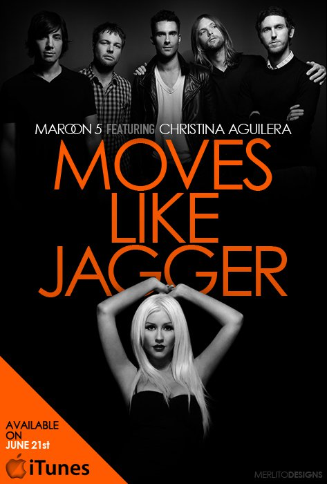 Maroon 5 Ft Christina Aguilera Moves Like Jagger The Jukepop